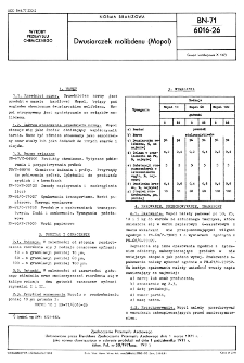 Dwusiarczek molibdenu (Mopol) BN-71/6016-26