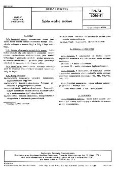 Szkło wodne sodowe BN-74/6016-41