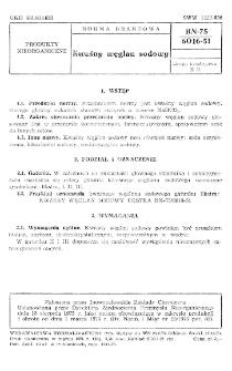 Kwaśny węglan sodowy BN-75/6016-51