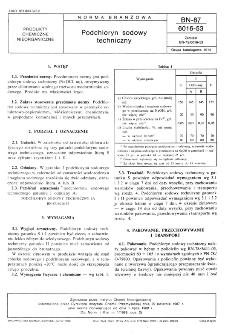 Podchloryn sodowy techniczny BN-87/6016-53