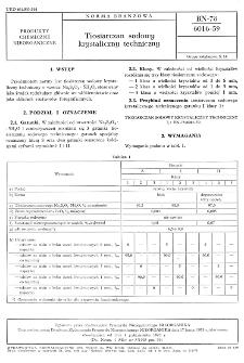 Tiosiarczan sodowy krystaliczny techniczny BN-78/6016-59