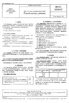 Sole dla celów galwanotechnicznych - Fluorokrzemian potasowy BN-67/6068-10