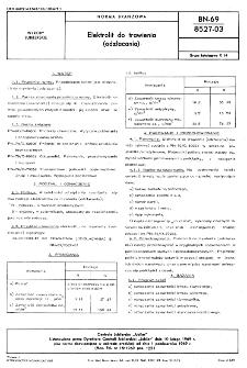 Elektrolit do trawienia (odzłacania) BN-69/8527-03