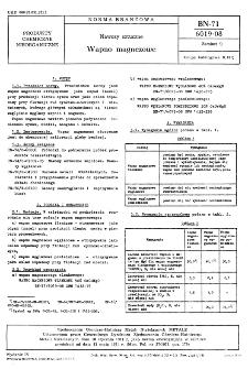 Nawozy sztuczne - Wapno magnezowe BN-71/6019-08