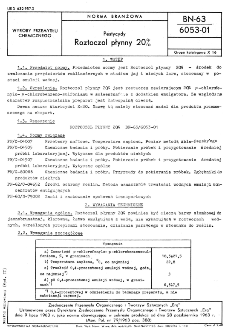 Pestycydy - Roztoczol płynny 20% BN-63/6053-01
