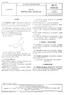 Zoocydy - Metoksychlor techniczny BN-71/6053-02
