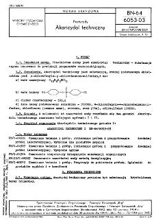 Pestycydy - Akaricydol techniczny BN-64/6053-03