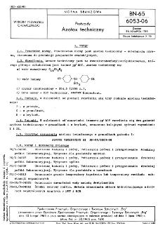 Pestycydy - Azotox techniczny BN-65/6053-06