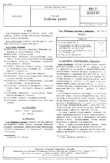 Zoocydy - Lindosep pylisty BN-71/6053-19