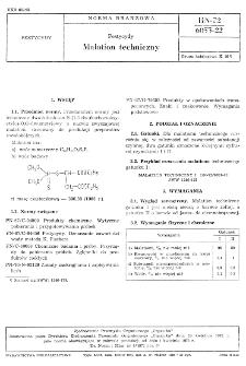 Pestycydy - Malation techniczny BN-72/6053-2