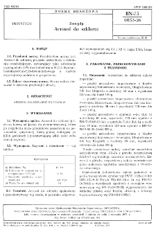Zoocydy - Aerozol do szklarni BN-75/6053-26