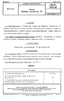 Zoocydy - Karbatox zawiesinowy 75 BN-75/6053-28