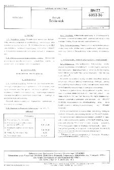 Zoocydy - Szklarniak BN-77/6053-36