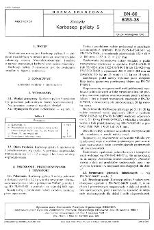 Zoocydy - Karbosep pylisty 5 BN-80/6053-38