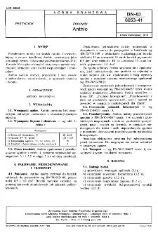 Zoocydy - Anthio BN-83/6053-41