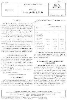 Herbicydy - Aminopieliki P, M, D BN-76/6054-04