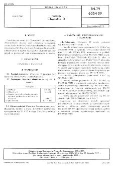 Herbicydy - Chwastox D BN-79/6054-09