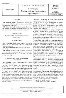 Rodentycydy - Ziarno zatrute fosforkiem cynkowym BN-86/6056-01