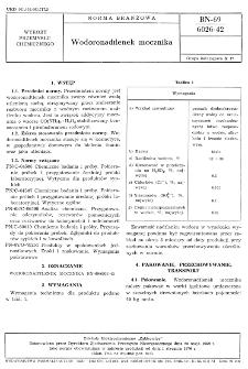 Wodoronadtlenek mocznika BN-69/6026-42