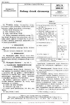 Zielony tlenek chromowy BN-78/6046-01