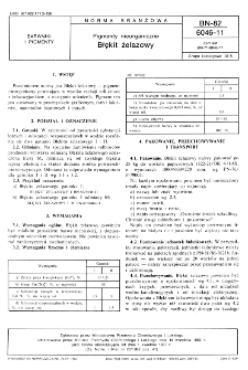 Pigmenty nieorganiczne - Błękit żelazowy BN-82/6046-11