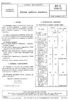 Żółcień cynkowa zasadowa BN-73/6046-12