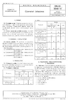 Czerwień żelazowa BN-85/6046-14