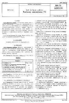 Środki do higieny sanitarnej - Karbosep zawiesinowy 75 BN-75/6053-29