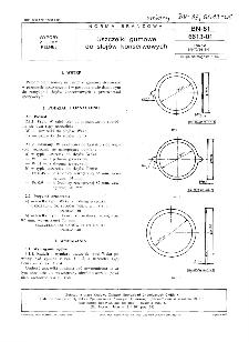 Uszczelki gumowe do słojów konserwowych BN-81/6613-01