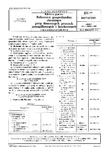 Rękawice gumowe - Rękawice gospodarskie chroniące przy domowych pracach porządkowych i kuchennych - Charakterystyka techniczna BN-77/6663-03/09