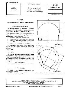 Gumowy sprzęt pływacki - Czepki kąpielowe - Oznaczenie, wymagania i błędy BN-81/8444-17.04