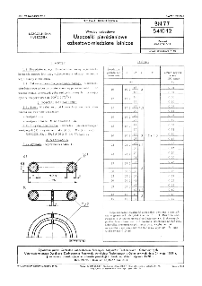 Wyroby azbestowe - Uszczelki pierścieniowe azbestowo-miedziane lotnicze BN-77/5410-12