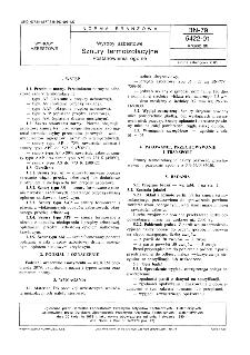 Wyroby azbestowe - Sznury termoizolacyjne - Postanowienia ogólne BN-79/5422-01 Arkusz 00