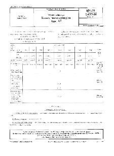 Wyroby azbestowe - Sznury termoizolacyjne typu AP BN-79/5422-01 Arkusz 01