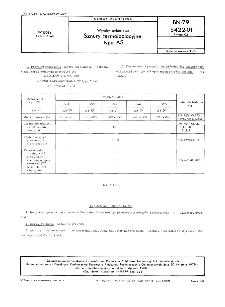 Wyroby azbestowe - Sznury termoizolacyjne typu AS BN-79/5422-01 Arkusz 02