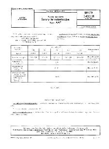 Wyroby azbestowe - Sznury termoizolacyjne typu AAP BN-79/5422-01 Arkusz 03