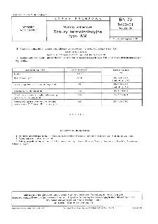 Wyroby azbestowe - Sznury termoizolacyjne typu AM BN-79/5422-01 Arkusz 05