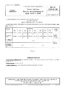 Wyroby azbestowe - Sznury termoizolacyjne typu AAO i AAW BN-87/5422-01/06