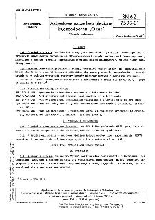 """Azbestowe szczeliwa plecione kwasoodporne """"Okas"""" - Warunki techniczne BN-62/7599-01"""