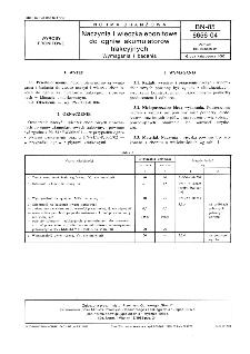 Naczynia i wieczka ebonitowe do ogniw akumulatorów trakcyjnych - Wymagania i badania BN-85/6656-04