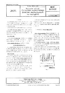 Przenośniki taśmowe - Oznaczanie wytrzymałości połączeń mechanicznych na rozciąganie BN-81/0452-22