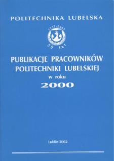 Publikacje Pracowników Politechniki Lubelskiej w roku 2000