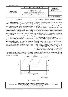Metody badań taśm przenośnikowych - Oznaczanie wytrzymałości na rozdarcie BN-89/0452-24