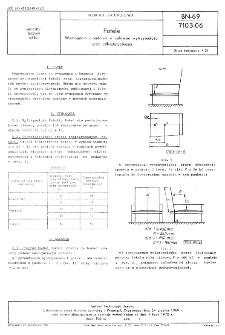 Fotele - Wymagania i badania w zakresie wytrzymałości oraz odkształcalności BN-69/7103-06