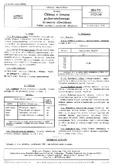 Forniry - Okleiny z drewna podzwrotnikowego skrawane obwodowo - Podział, wymiary i wymagania jakościowe BN-70/7112-09