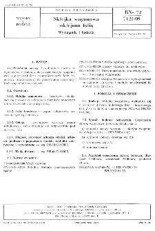 Sklejka wagonowa oklejona folią - Wymagania i badania BN-72/7121-05