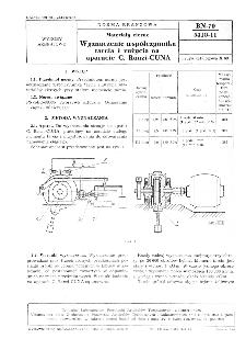 Materiały cierne - Wyznaczanie współczynnika tarcia i zużycia na aparacie C. Ranzi-CUNA BN-70/5410-11