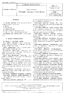 Płyty pilśniowe - Podział, nazwy i określenia BN-77/7122-11/01