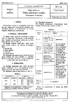 Płyty pilśniowe - Płyty porowate zwykłe - Wymagania techniczne BN-74/7122-11/11