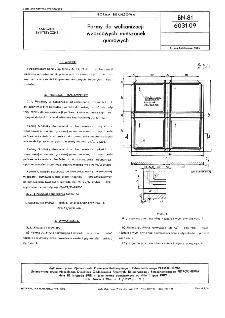 Formy do wulkanizacji wzorcowych mieszanek gumowych BN-81/6031-09